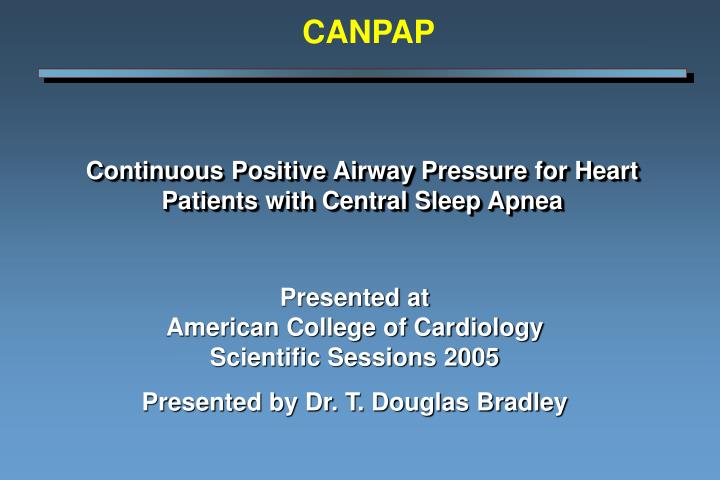 continuous positive airway pressure for heart patients with central sleep apnea n.