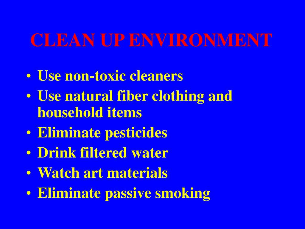 CLEAN UP ENVIRONMENT