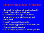 effects of lenses prisms