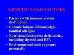 genetic load factors