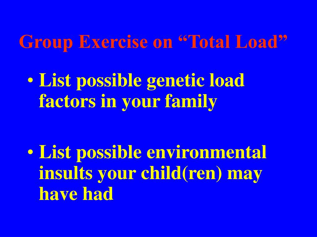 """Group Exercise on """"Total Load"""""""