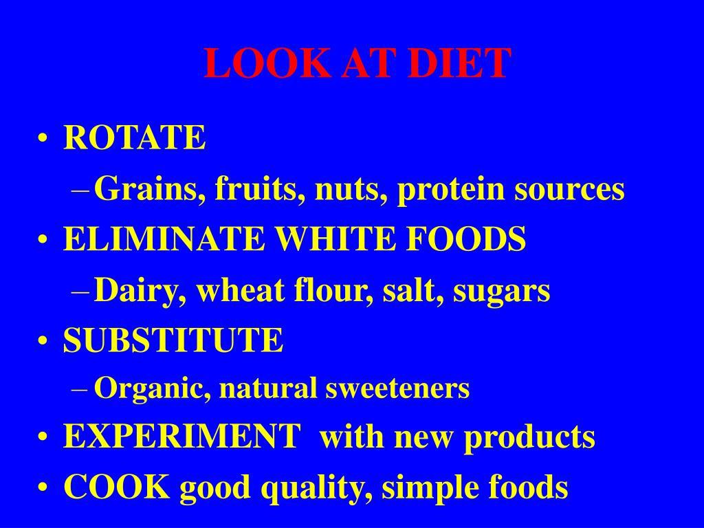LOOK AT DIET