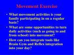 movement exercise