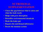 nutritional supplementation