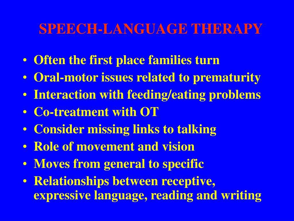 SPEECH-LANGUAGE THERAPY