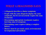 what a diagnosis says