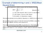 example of determining n and s mse mean square error