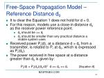 free space propagation model reference distance d 0