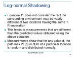 log normal shadowing