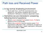 path loss and received power