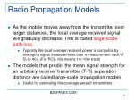 radio propagation models17