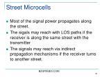 street microcells