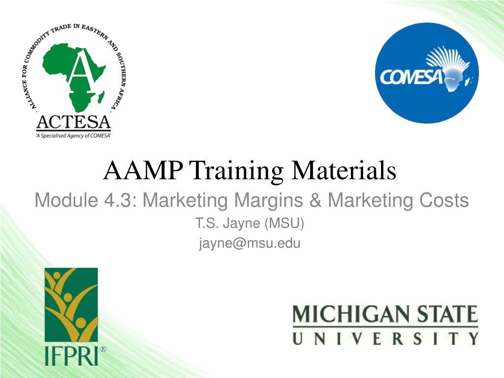 AAMP Training Materials