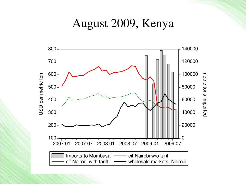 August 2009, Kenya