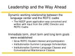 leadership and the way ahead