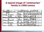 a typical image of centenarian family in 1900 census