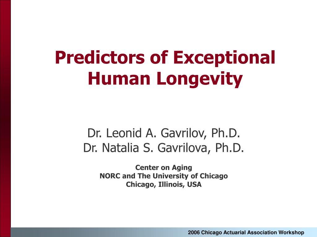 predictors of exceptional human longevity l.