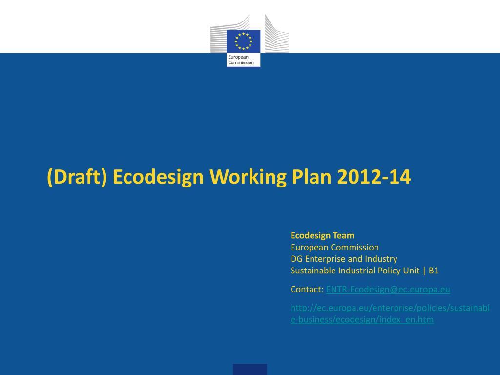 draft ecodesign working plan 2012 14 l.