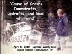 cause of crash downdrafts updrafts and local whirlwind