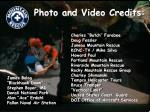 photo and video credits
