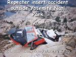 repeater insert accident outside yosemite natl park