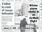 winter storm closes in on airmed flight