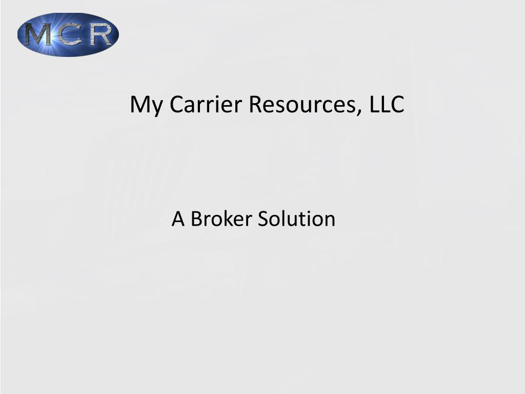 my carrier resources llc l.
