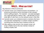 wals what can it do11