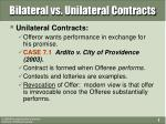 bilateral vs unilateral contracts7