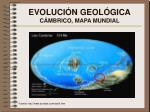 evoluci n geol gica c mbrico mapa mundial