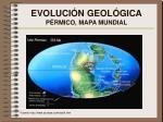 evoluci n geol gica p rmico mapa mundial