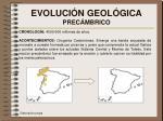 evoluci n geol gica prec mbrico