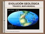 evoluci n geol gica triasico mapa mundial