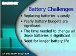 battery challenges
