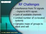 rf challenges