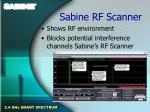 sabine rf scanner
