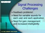 signal processing challenges