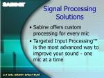 signal processing solutions