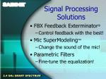 signal processing solutions15
