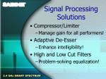 signal processing solutions16