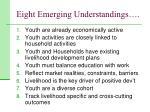 eight emerging understandings