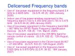 delicensed frequency bands