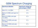 gsm spectrum charging