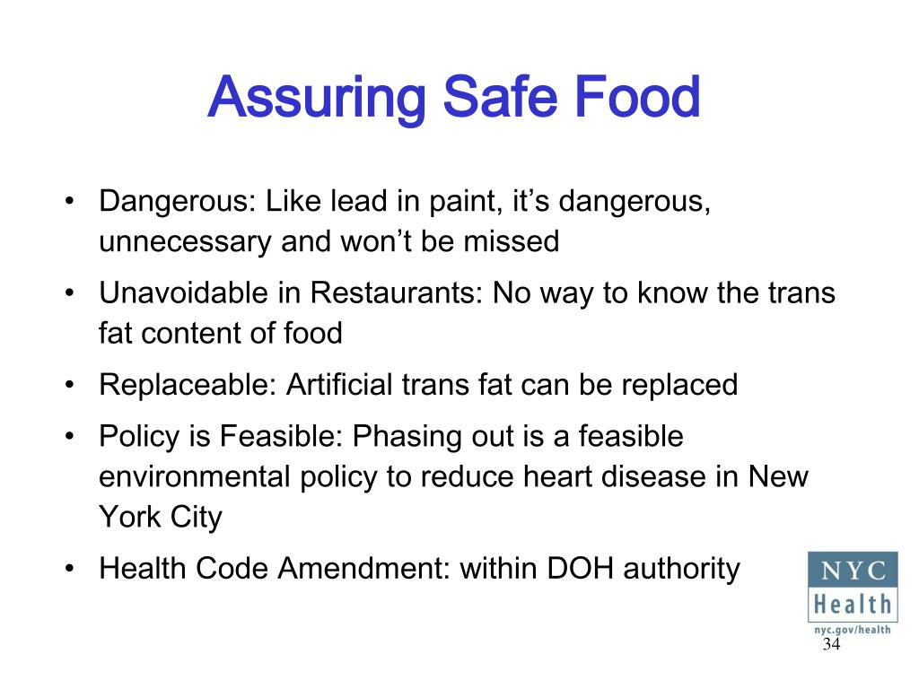 Assuring Safe Food