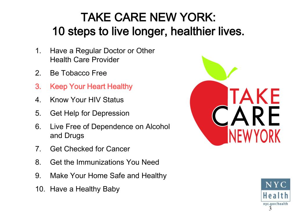 TAKE CARE NEW YORK: