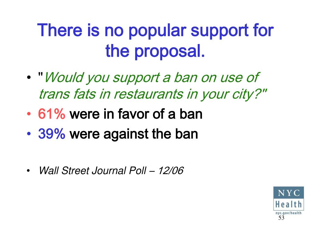 There is no popular support for the proposal.