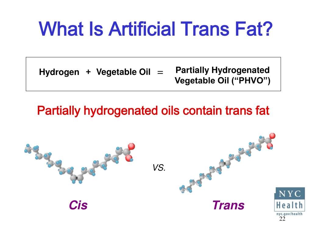"Partially Hydrogenated Vegetable Oil (""PHVO"")"