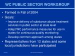 wc public sector workgroup