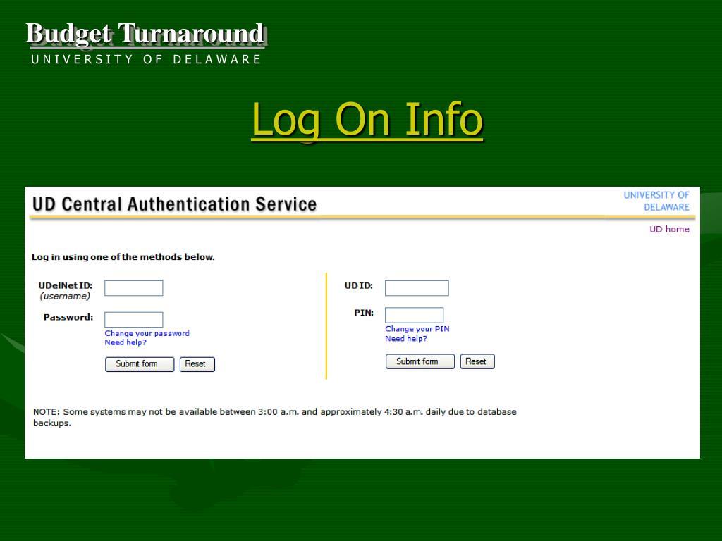 Log On Info