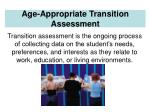 age appropriate transition assessment